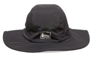 Banded Fishing Vented Bucket Cap in a gray graphite color