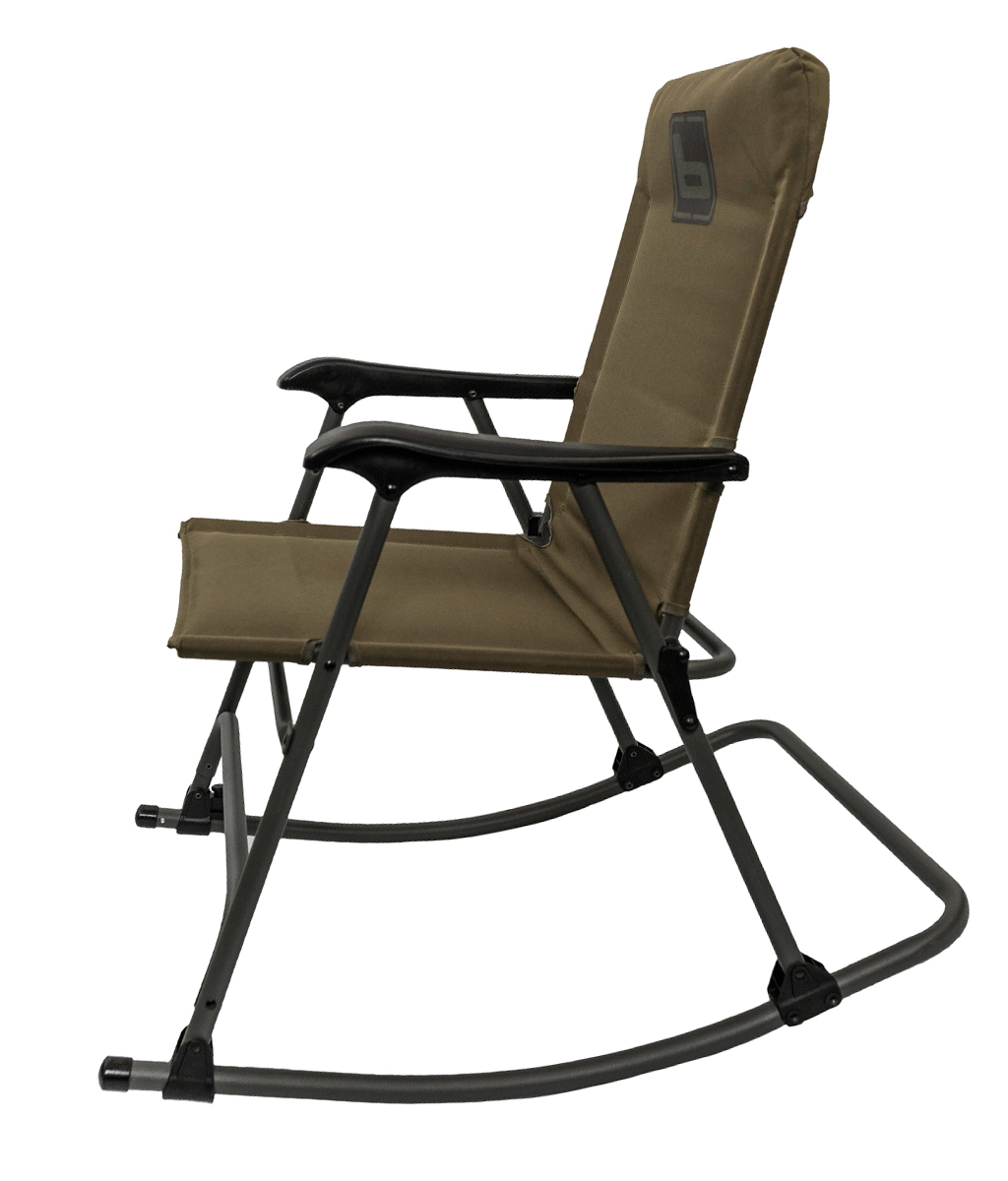 Banded Folding Rocking Chair Olive Green Outdoor Folding Rocking Lawn Chair