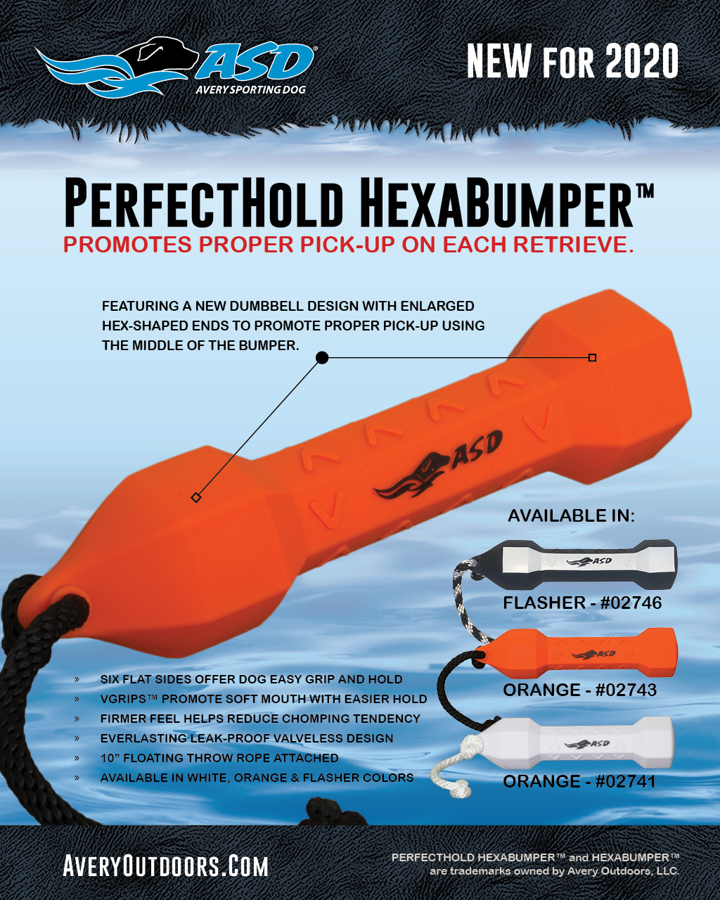 PerfectHold HexaBumper by Avery Sporting Dog - Labrador training with flasher bumper